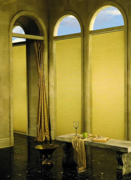 Cellular Shades Archtop Bare