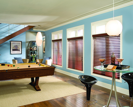 2 Inch Faux Wood Pool Room