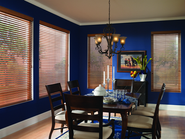 Wood Blinds Dining