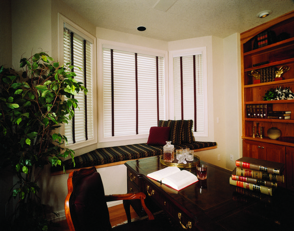 Wood Blinds with Cloth Tape